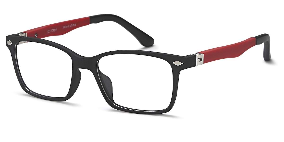 Capri T33 - Black / Red