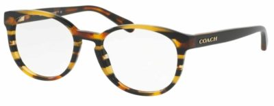 Coach HC6102 - 5440 Black Amber Gltr Varsity Stripe