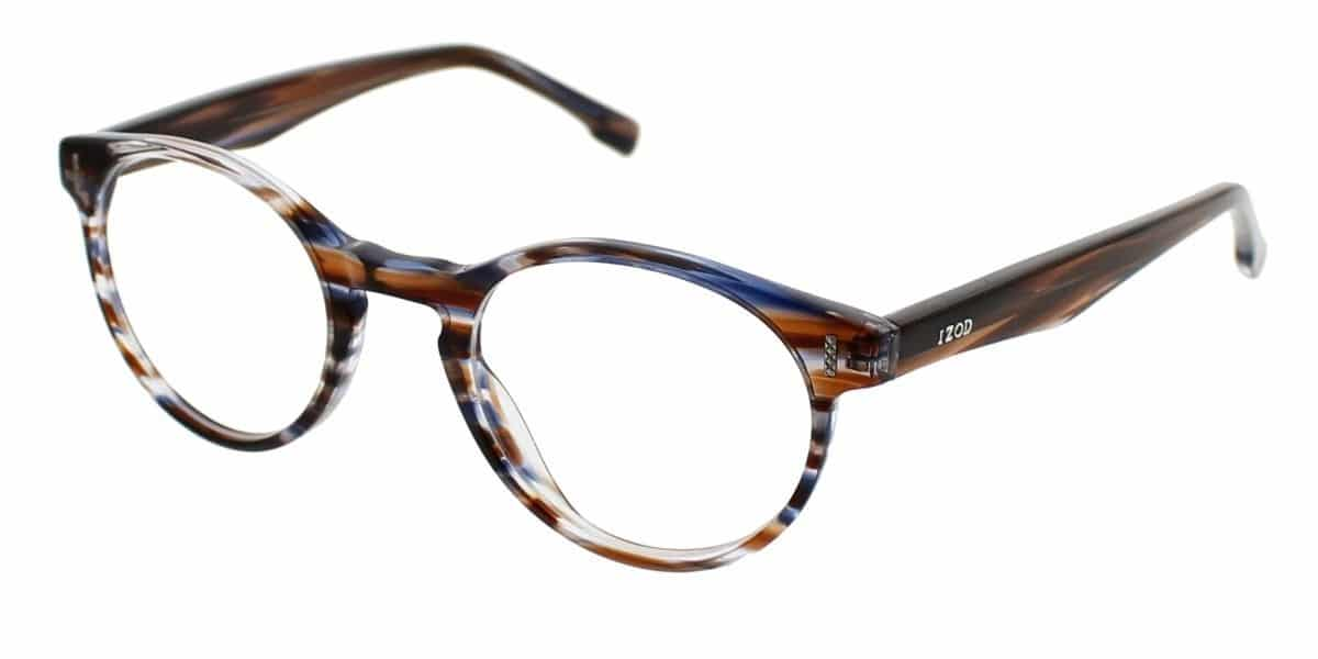 IZOD 2038 - Brown Blue Horn