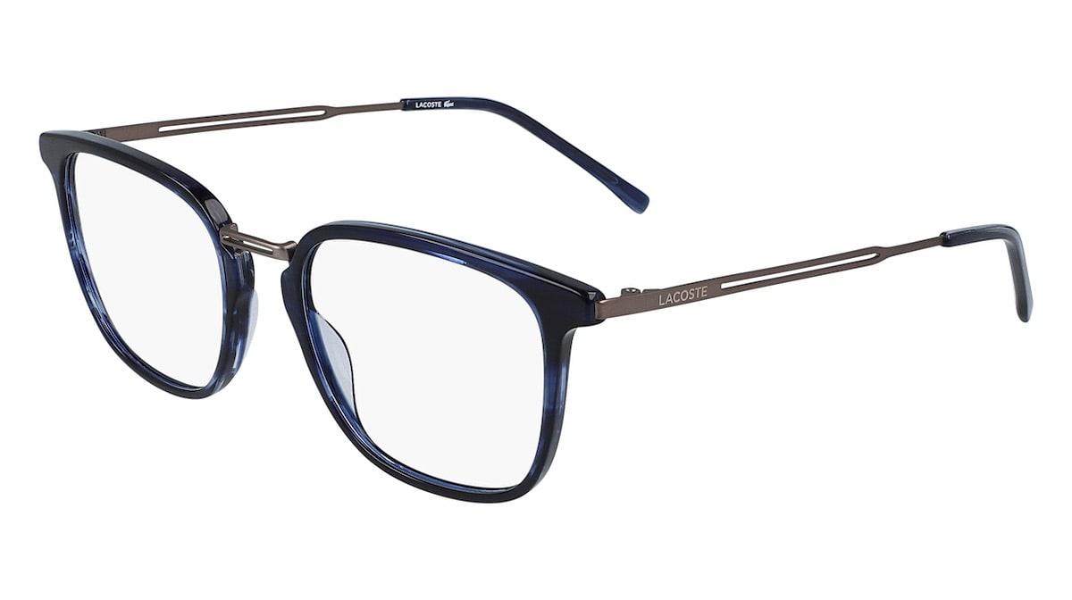 Lacoste L2853PC 215 - Havana / Striped Blue