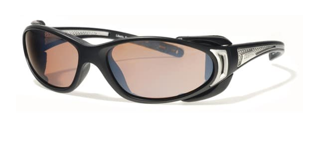 Liberty Sport - CHOPPER - Matte Black / Shiny Silver with Ultimate Driver lens #205
