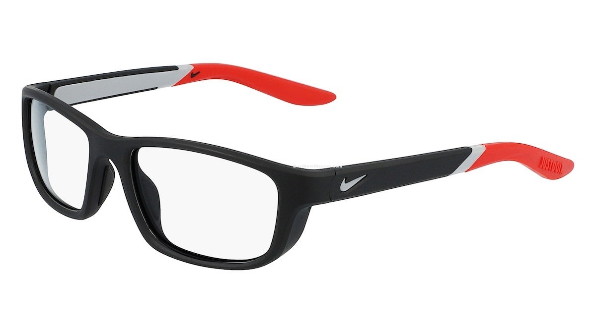 Nike 5044 004 - Matte Black / University Red
