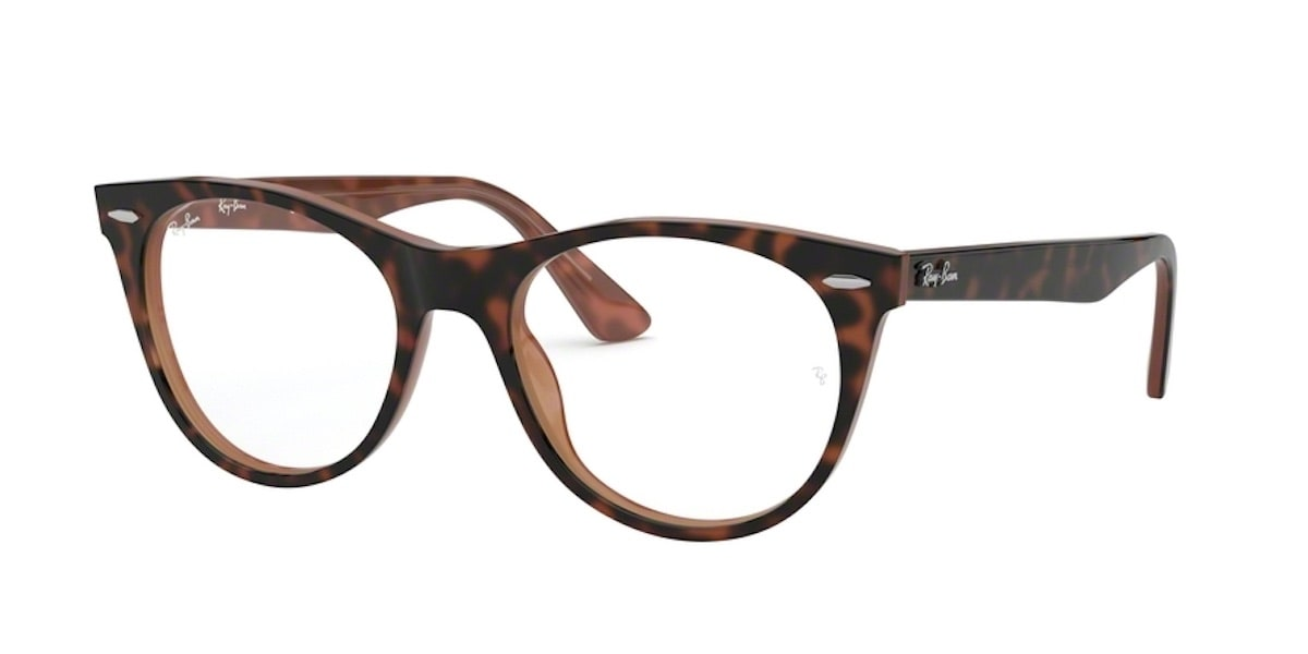 Ray-Ban RX2185VF 5713 - Top Havana on Brown