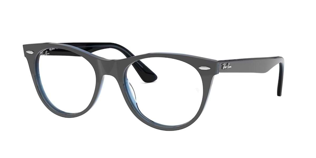 Ray-Ban RX2185V 5988 Grey on Transparent Blue