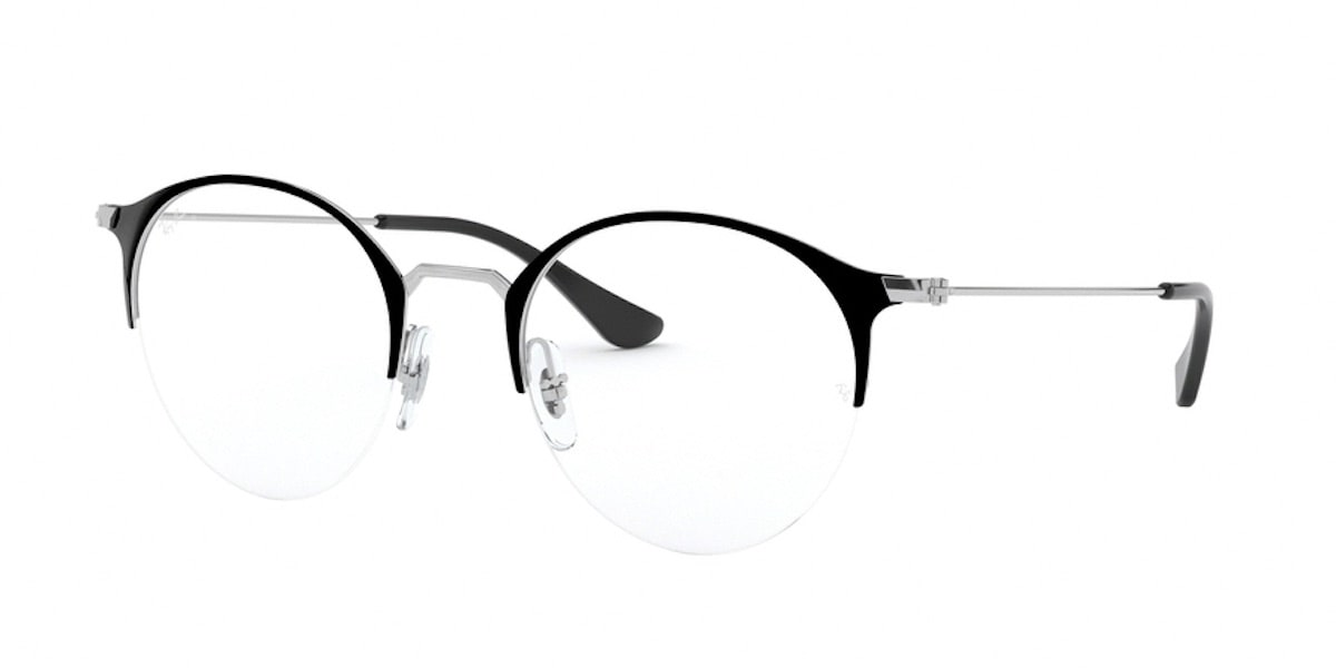 Ray-Ban RX3578V 2861 - Top Black on Silver