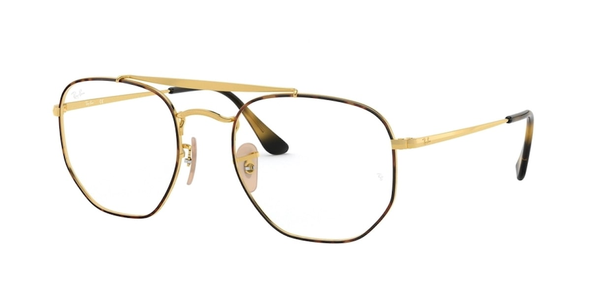 Ray-Ban RX3648V 2945 - Top Havana on Gold