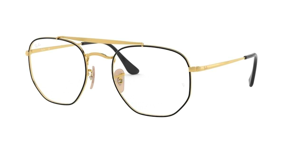Ray-Ban RX3648V 2946 - Top Black on Gold