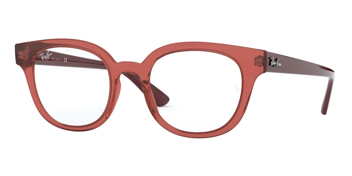 Ray-Ban RX4324V 5942 - Transparent Light Red