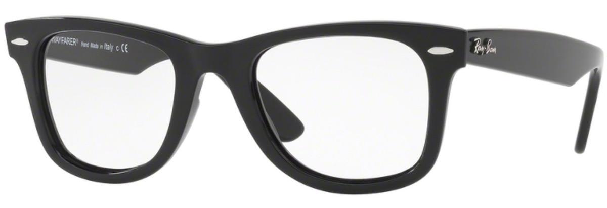 Ray-Ban RX4340V Wayfarer - 2000 Shiny Black