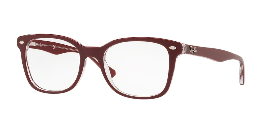 Ray-Ban RX5285 - 5738 Top Bordeaux on Transparent