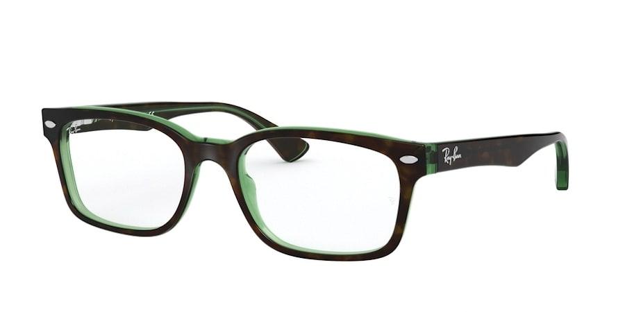 Ray-Ban RX5286 2383 - To pHavana on Green Transparent