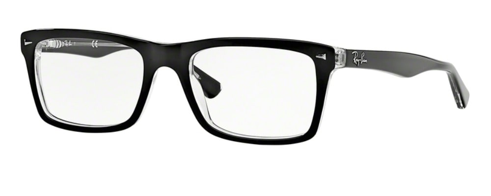 Ray-Ban RX5287 - 2034 Top Black on Transparent