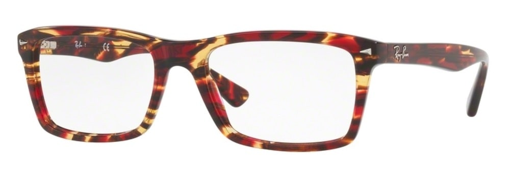 Ray-Ban RX5287 - 5710 Spotted Red / Brown / Yellow