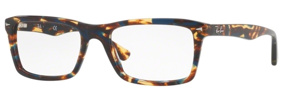 Ray-Ban RX5287 - 5711 Spotted Blue / Brown / Yellow