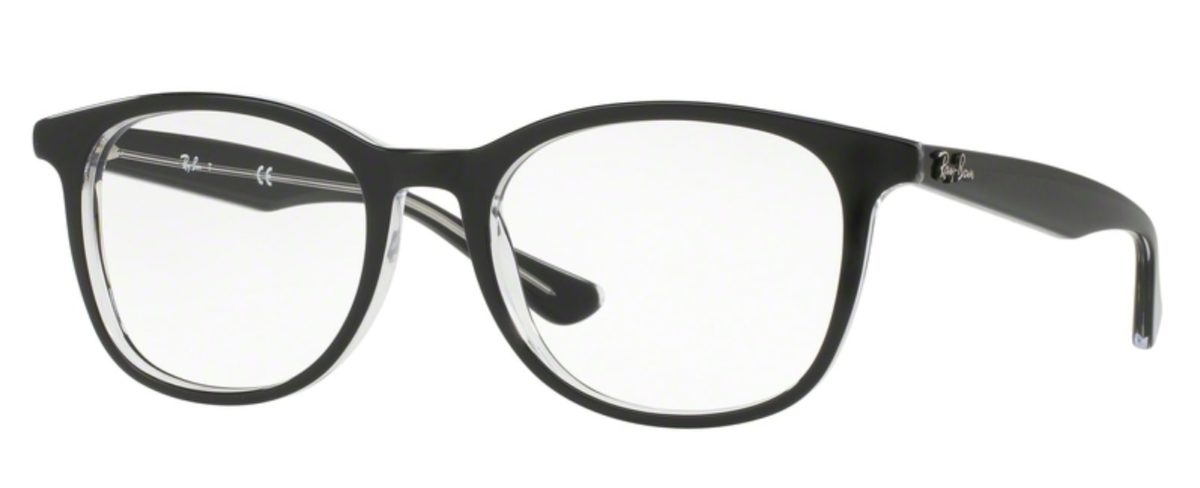 Ray-Ban RX5356 - 2034 Top Black on Transparent