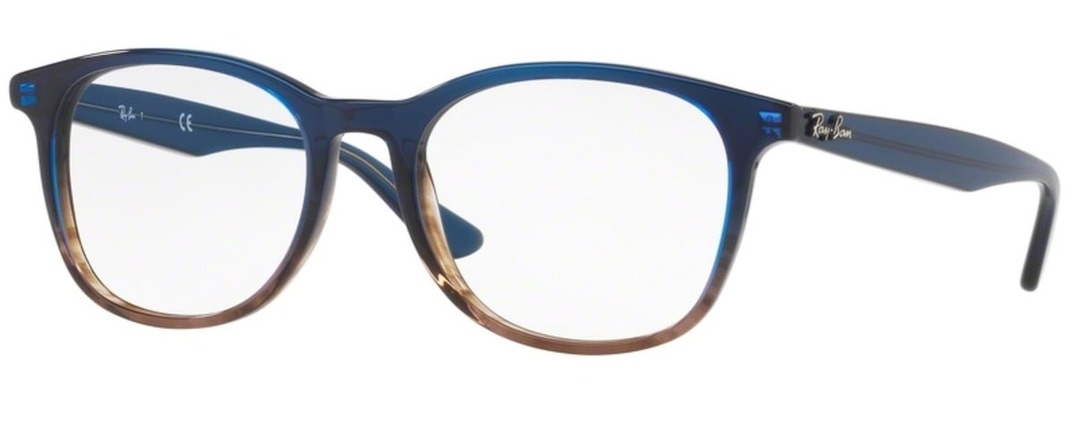 Ray-Ban RX5356 - 5765 Gradient Blue on Striped Grey