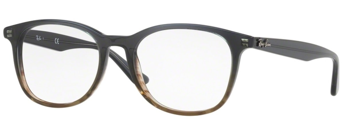 Ray-Ban RX5356 - 5766 Gradient Grey on Striped Grey