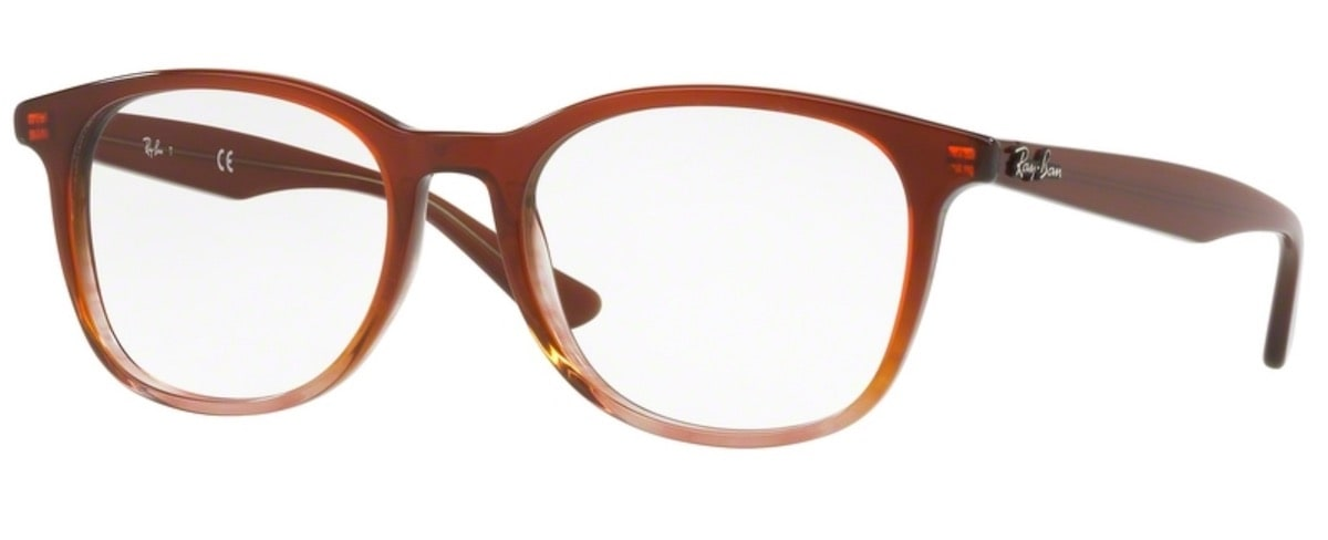 Ray-Ban RX5356 - 5767 Brown on Striped Brown