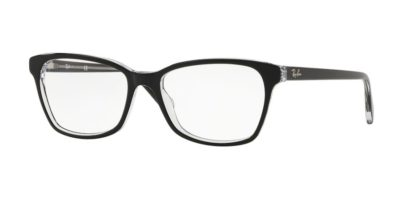 Ray-Ban RX5362 2034 - Top Black on Transparent