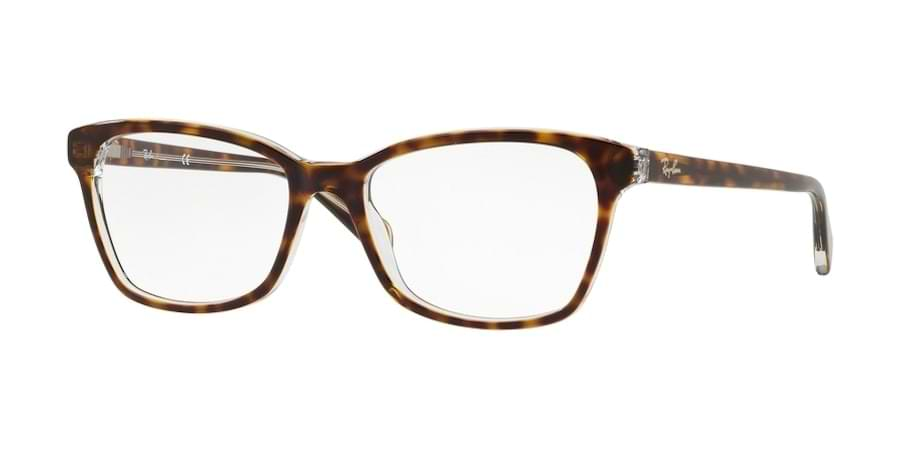 Ray-Ban RX5362 5082 - Top Havana on Transparent