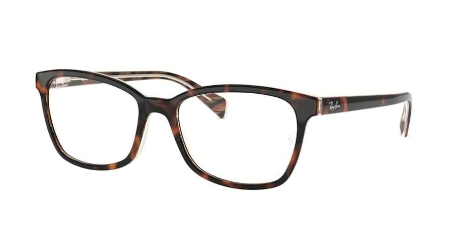 Ray-Ban RX5362 5913 - Top Brown / Red / Yellow