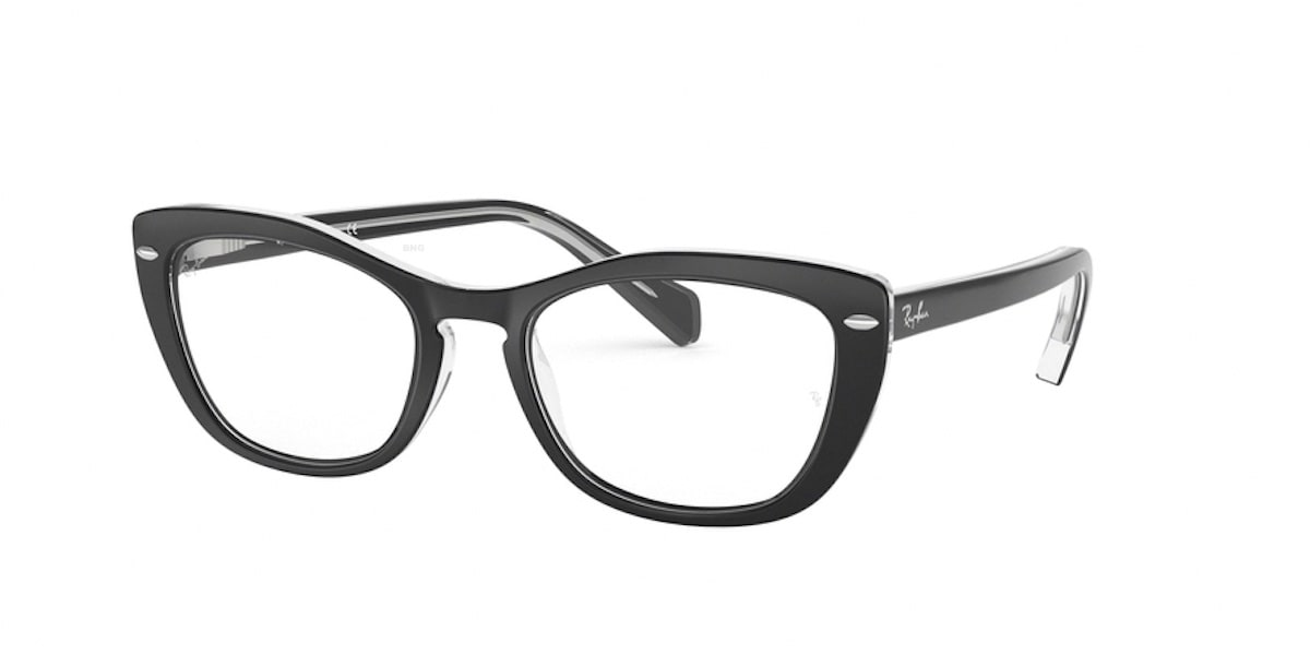 Ray-Ban RX5366 2034 - Top Black on Trasnaprent