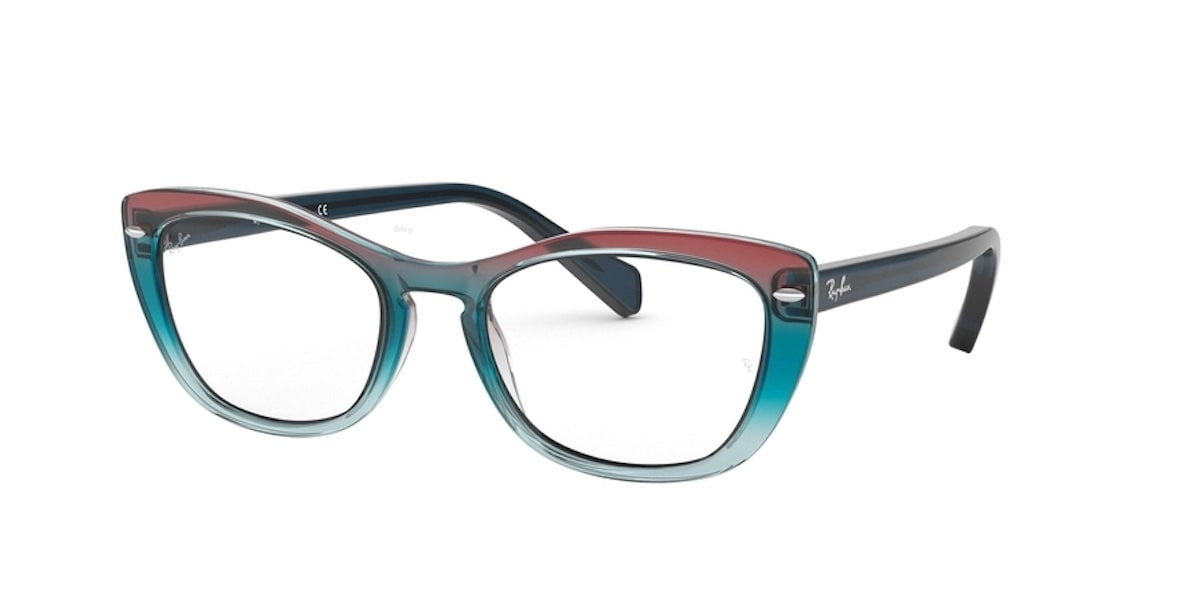 Ray-Ban RX5366 5834 - Trigradient Blue / Red / Azure