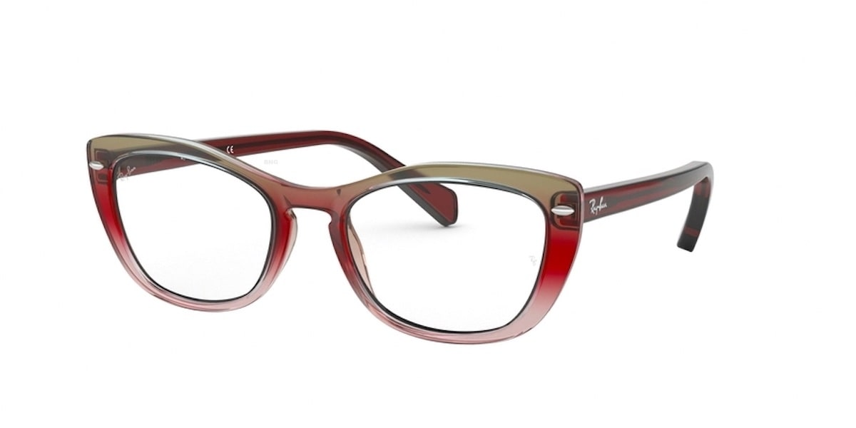 Ray-Ban RX5366 5835 - Trigradient / Bordeaux / Grey / Pink
