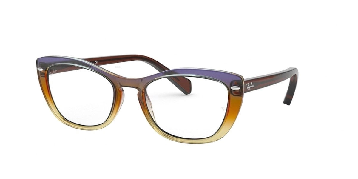 Ray-Ban RX5366 5836 - Trigradient Brown / Violet / Yellow