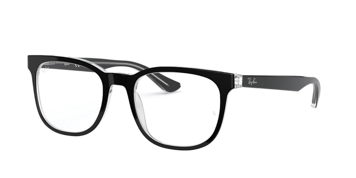 Ray-Ban RX5369F 2034 - Top Black on Transparent