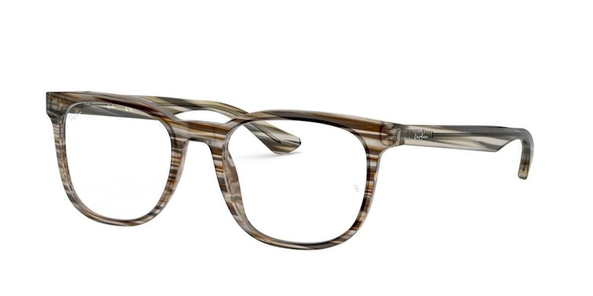 Ray-Ban RX5369 5751 - Striped Brown Grey