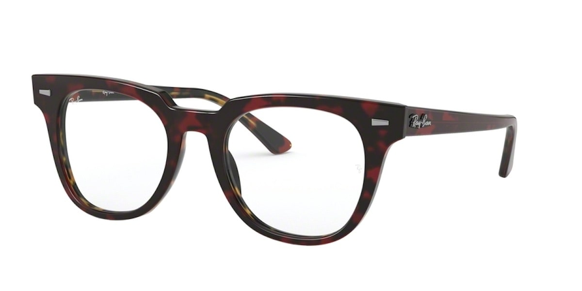 Ray-Ban RX5377 5911 - Top Transparent Red on Havana Orange
