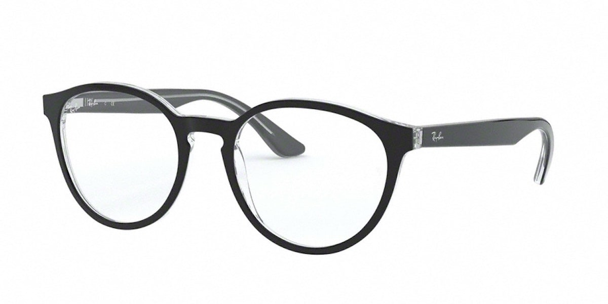 Ray-Ban RX5380 2034 - Top Black on Transparent