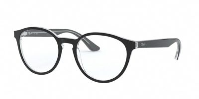 Ray-Ban RX5380F 2034 - Top Black on Transparent