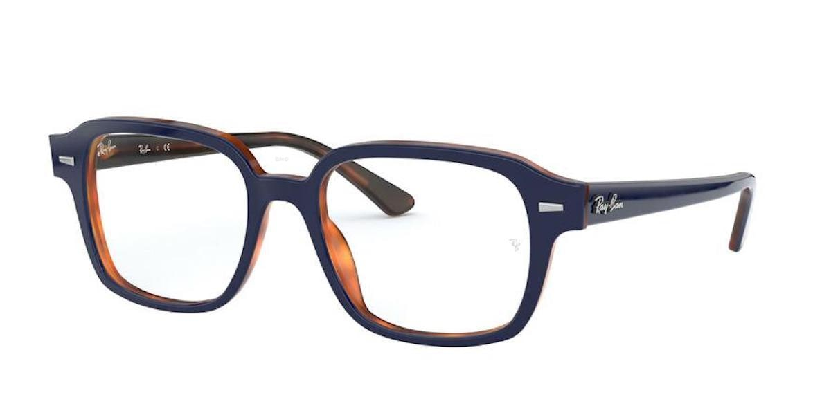 Ray-Ban RX5382 5910 - Top Blue on Havana Red
