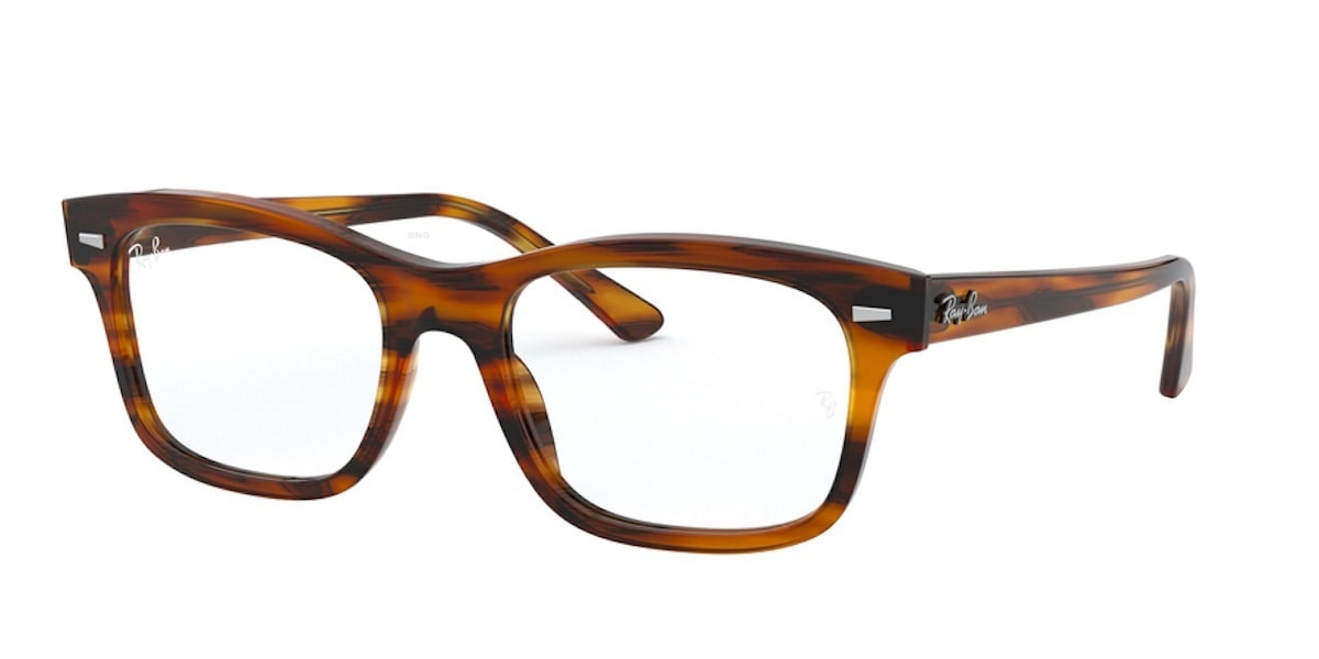 Ray-Ban RX5383F 2144 - Stripped Red Havana