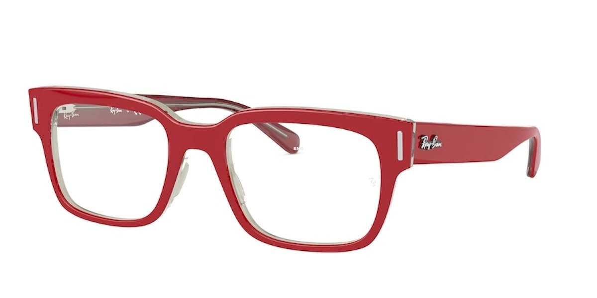 Ray-Ban RX5388 5987 - Red on Top Transparent Grey