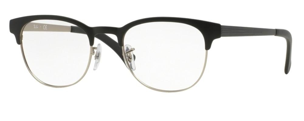 Ray-Ban RX6317 - 2832 Top Black on Matte Silver