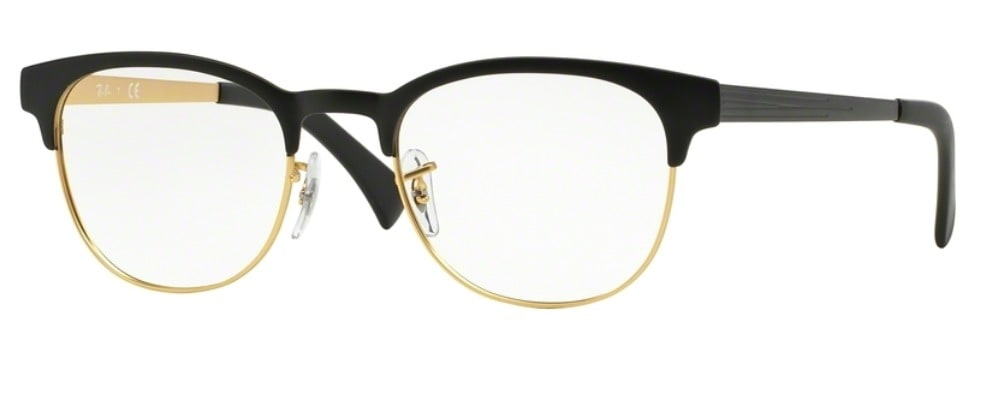 Ray-Ban RX6317 - 2833 Top Black on Matte Gold