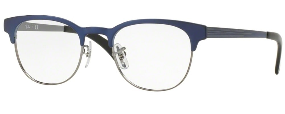Ray-Ban RX6317 - 2863 Top Brushed blue on Gunmetal