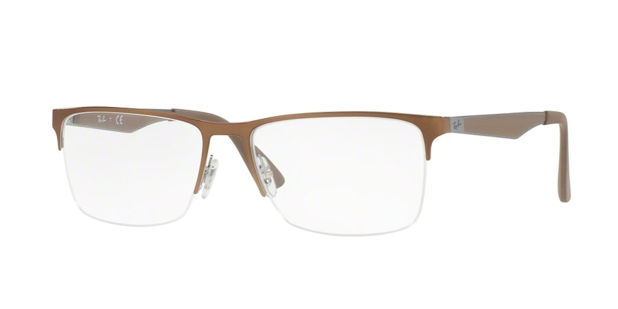 Ray-Ban RX6335 2531 - Top Grey on Brushed Brown