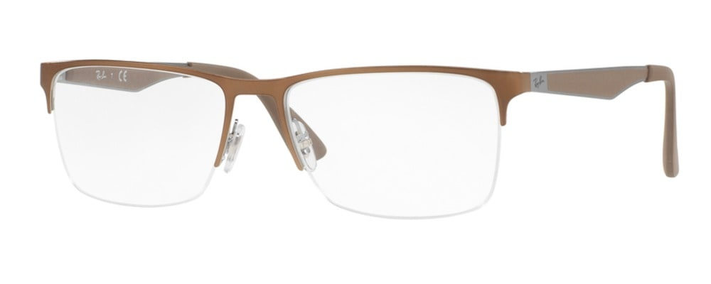Ray-Ban RX6335 2531 Top Grey on Brushed Brown