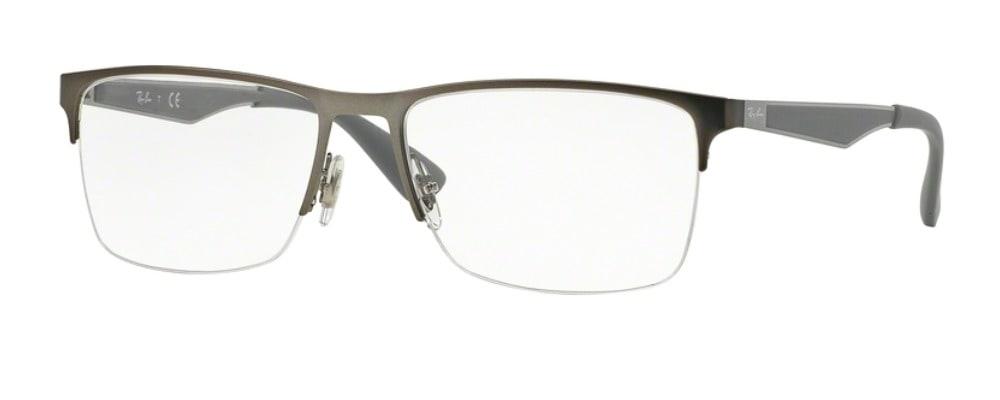 Ray-Ban RX6335 2855 Matte Gunmetal Silver