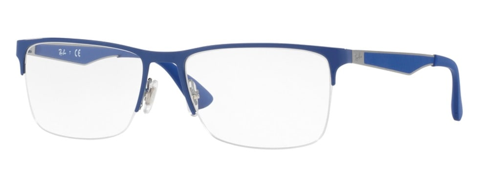 Ray-Ban RX6335 2889 Gunmetal on Electric Blue