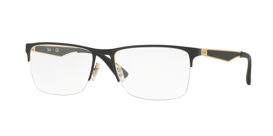 Ray-Ban RX6335 2890 - Gold Top in Black