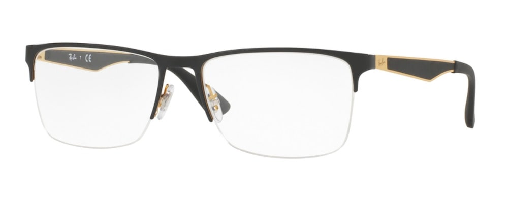 Ray-Ban RX6335 2890 Top Gold on Black