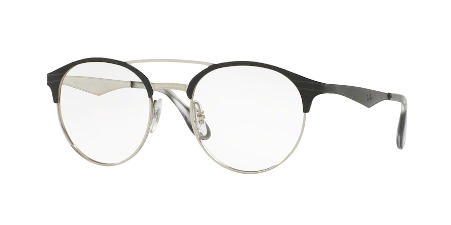 Ray-Ban RX3545V 2861 - Top Black on Silver