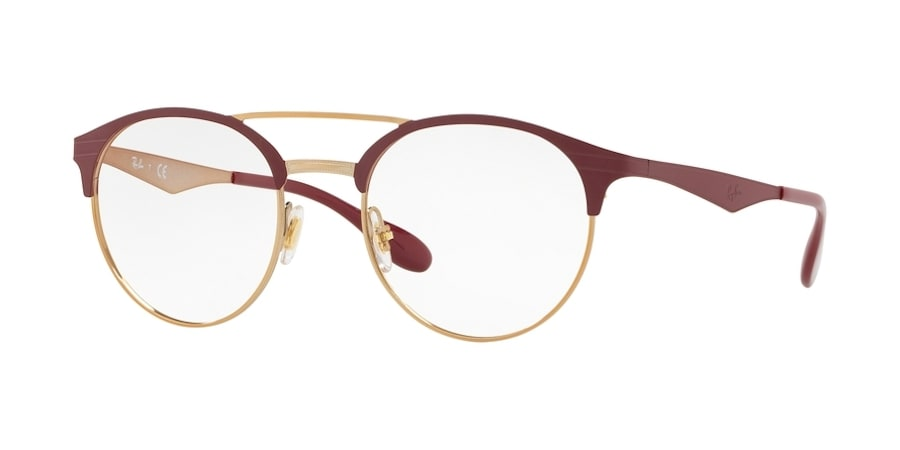 Ray-Ban RX3545V 3007 - Pink Gold on Top Matte Bordeaux