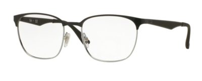 Ray-Ban RX6356 - 2861 Top Black on Shiny Silver