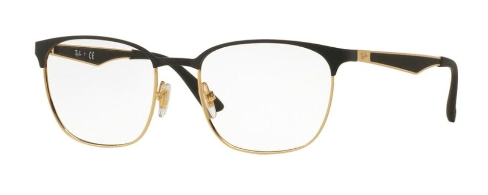 Ray-Ban RX6356 - 2875 Top Matte Black on Shiny Gold